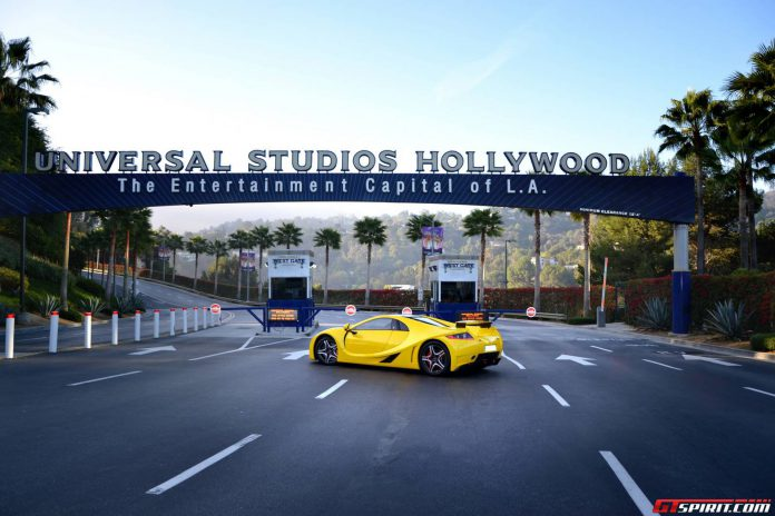 GTA Spano Wows at Universal Studios Hollywood