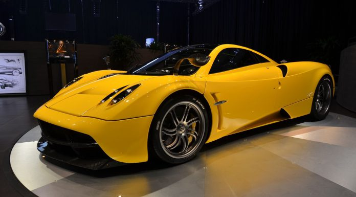 GTspirit Pagani Huayra in Yellow at Geneva Motor Show 2014