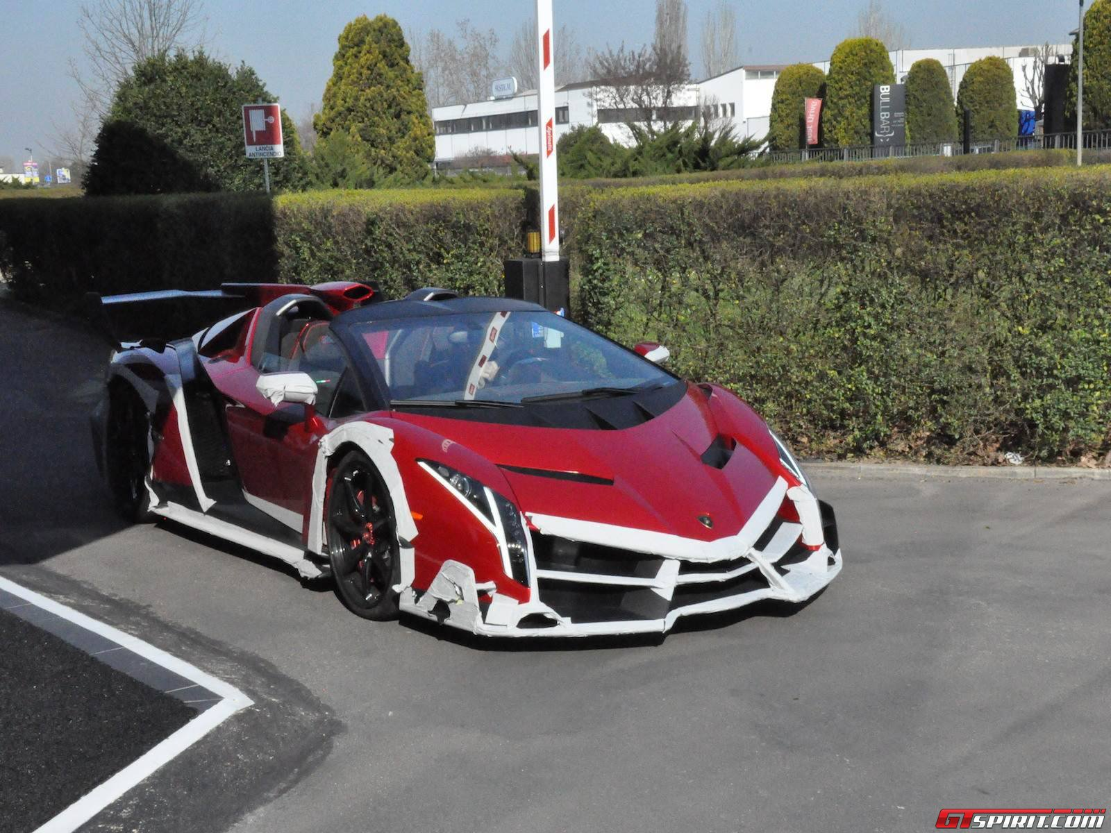 Spotted Lamborghini Veneno Roadster Outside Factory Premises Gtspirit