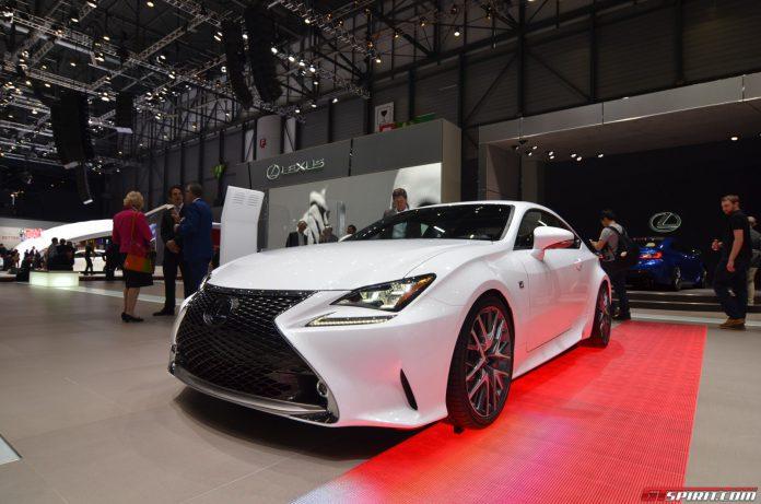 Lexus RC Coupe at the Geneva Motor Show 2014