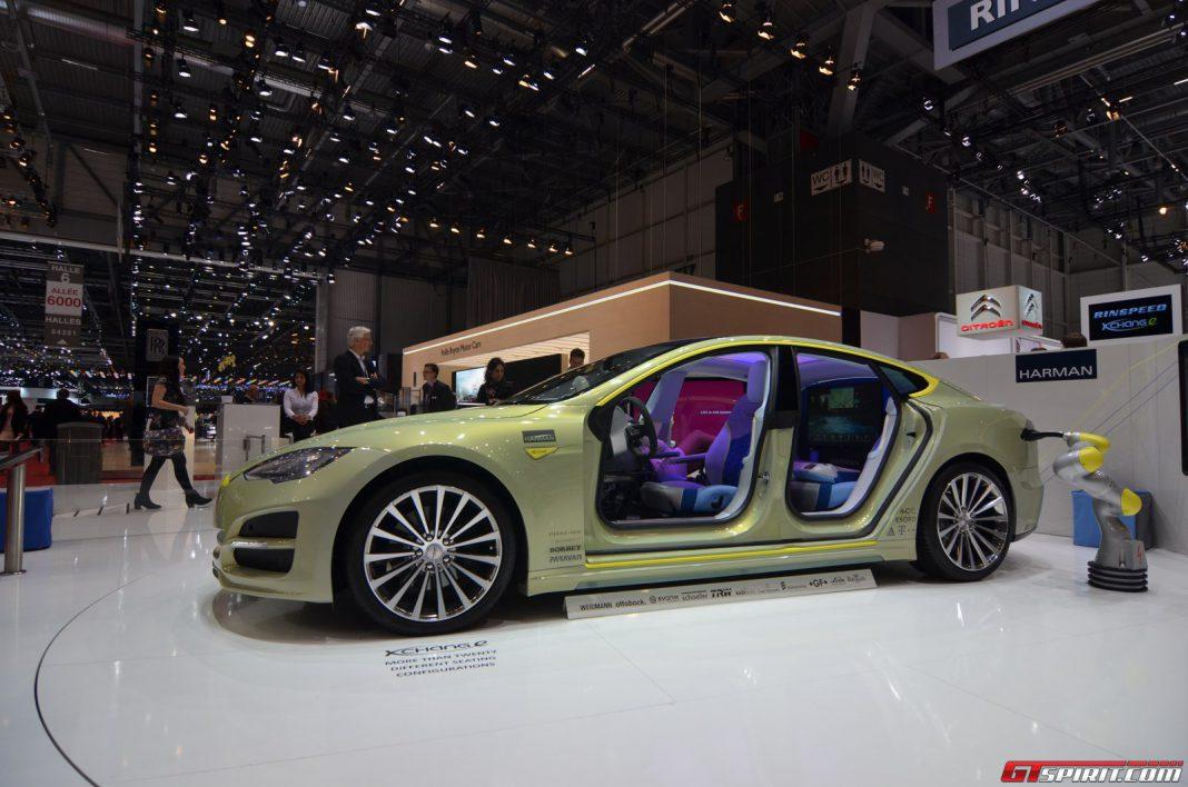 Rinspeed XchangeE Autonomous Prototype at the Geneva Motor Show 2014