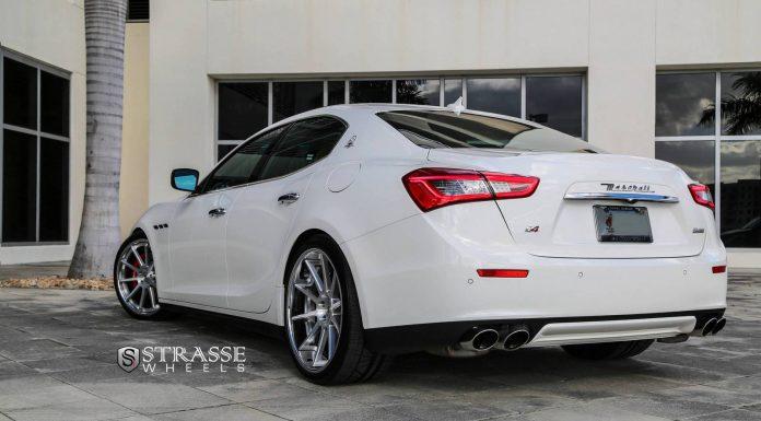 Maserati Ghibli Lowered on R10 Deep Concave Strasse Wheels