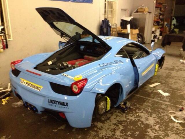 Sky Blue LB Walk Ferrari 458 Italia