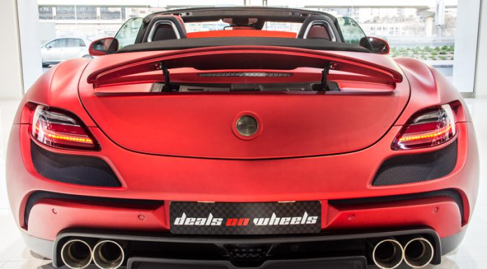 Insane Matte Red FAB Design Jetstream SLS AMG Roadster For Sale