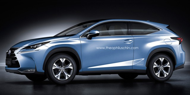 Three-Door Lexus NX Rendered