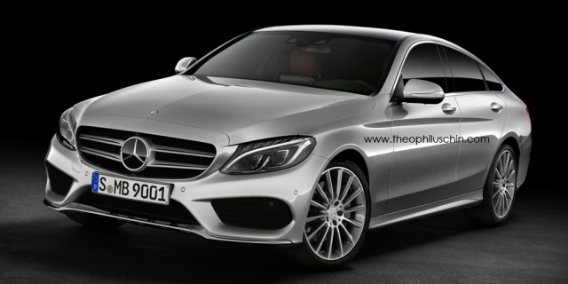 Mercedes-Benz C-Class Sportcoupe Re-Rendered With SUV Concept Roofline