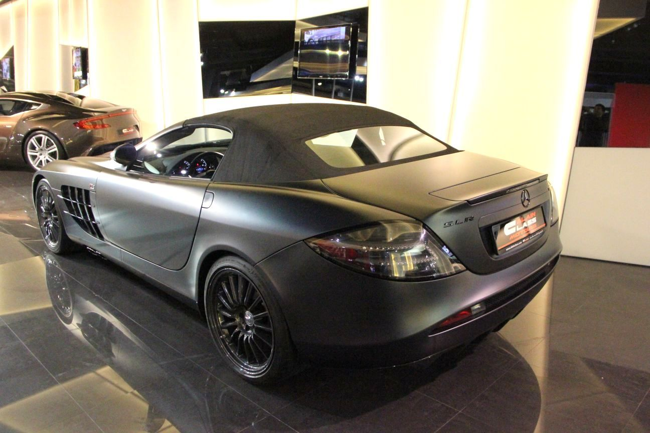 Stunning Matte Black Mercedes Benz Slr 722 S Roadster For Sale