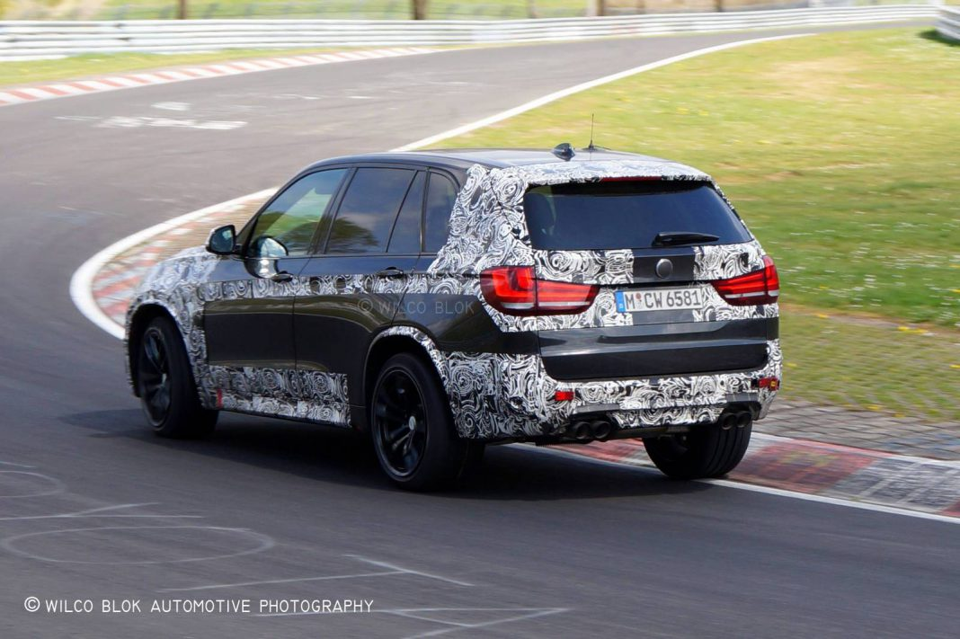 2015 BMW X5M Spotted With Less Camo at the Nürburgring