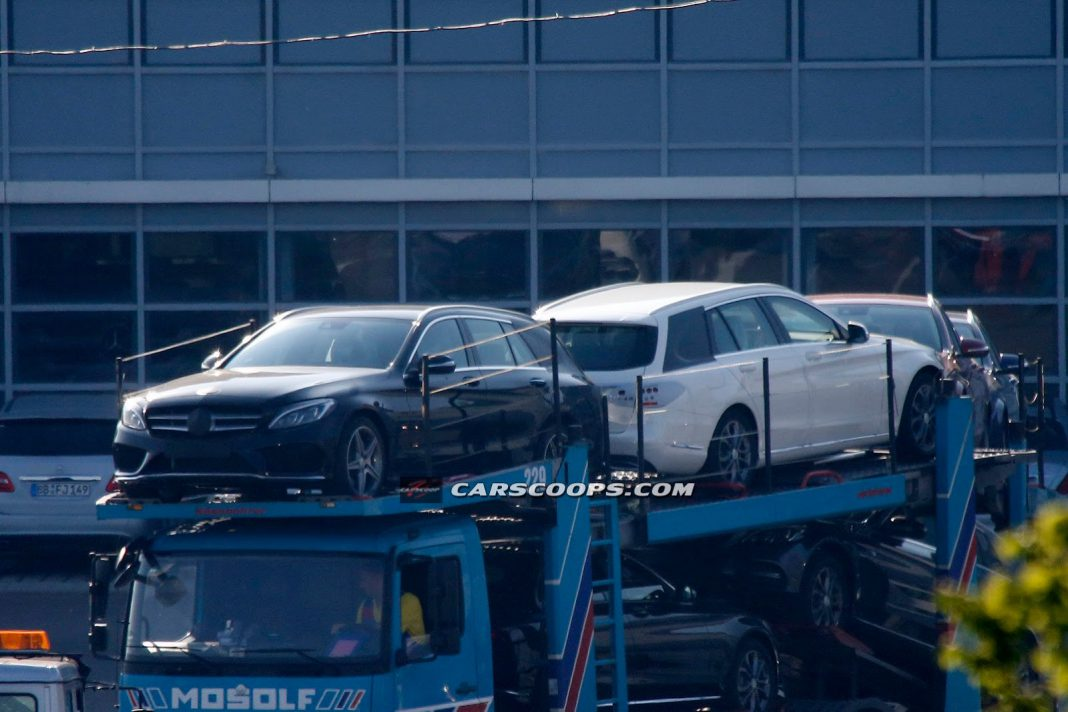 Next-Generation Mercedes-Benz C-Class Estate Spied