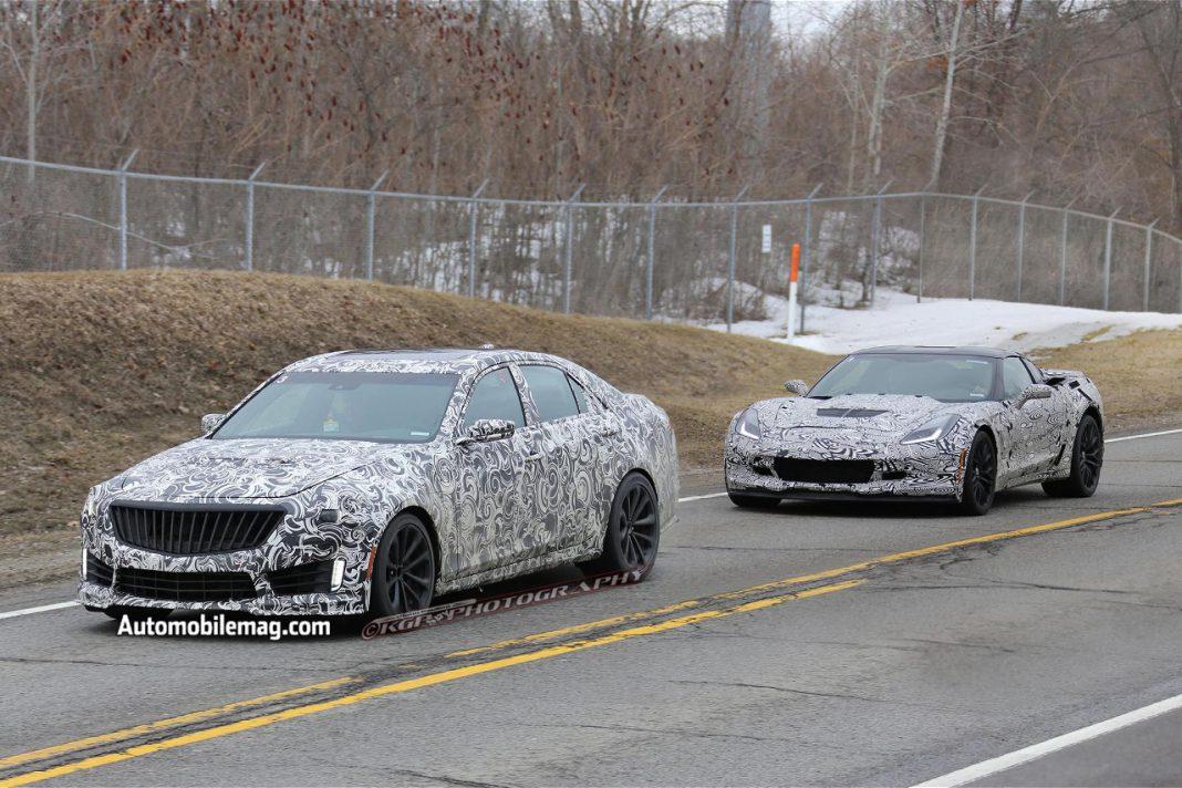 2015 Cadillac CTS-V Spied Alongside Corvette Z06
