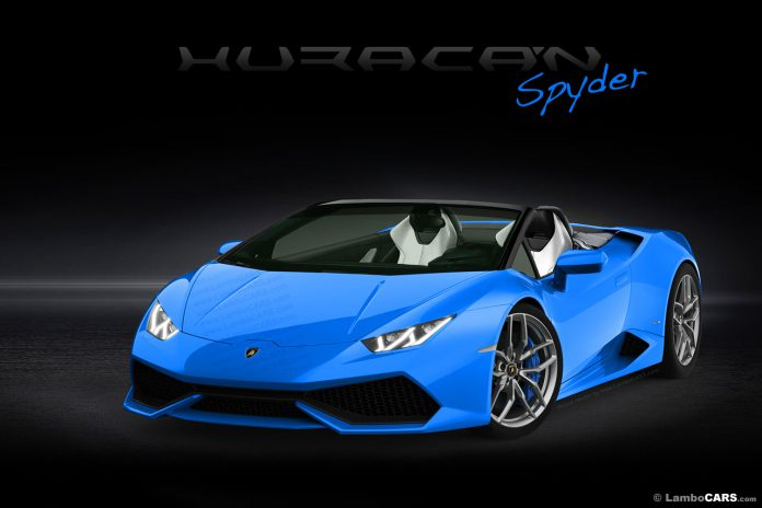 Lamborghini Huracan Spyder Rendered in Array of Colours
