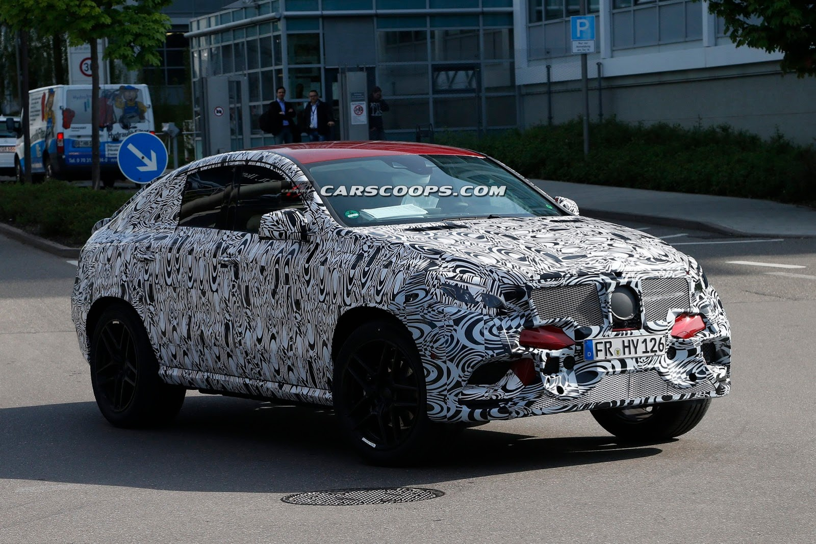 mercedes benz mlc spied testing with concept coupe styling gtspirit. Black Bedroom Furniture Sets. Home Design Ideas
