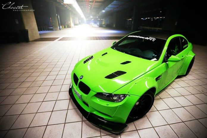 Lime Green BMW E92 M3 Coupe by iPE and Liberty Walk