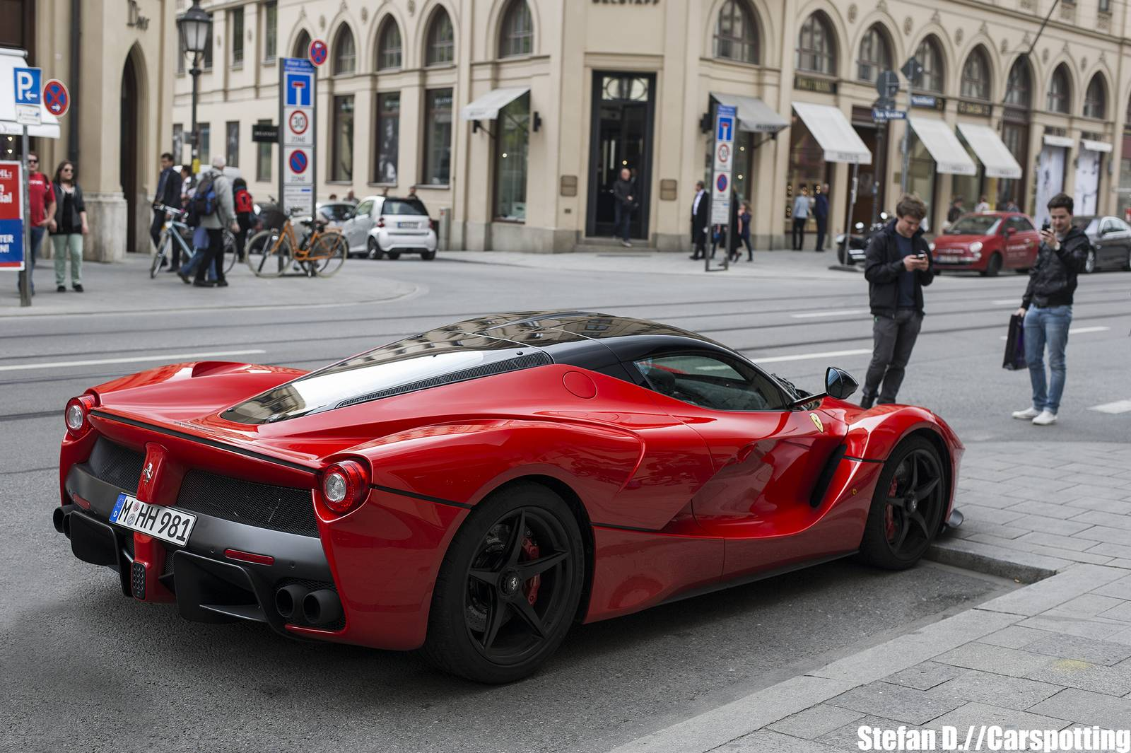 Epic Red Laferrari Snapped In Munich Gtspirit