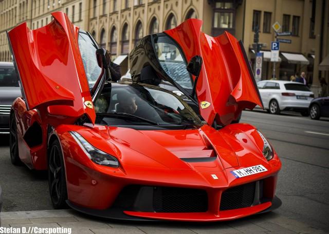 Epic Red LaFerrari Snapped in Munich