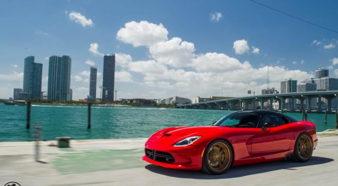 Red SRT Viper Shines With Gold ADV.1 Wheels