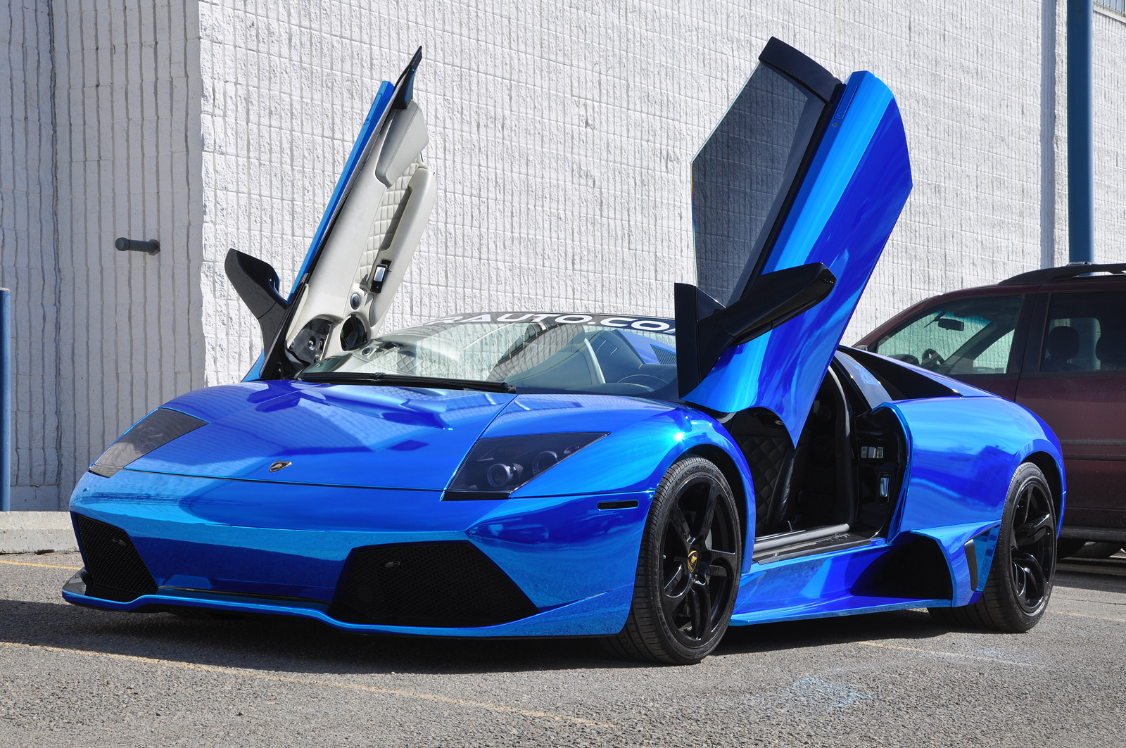 Incredible Chrome Blue Lamborghini Murcielago Gtspirit