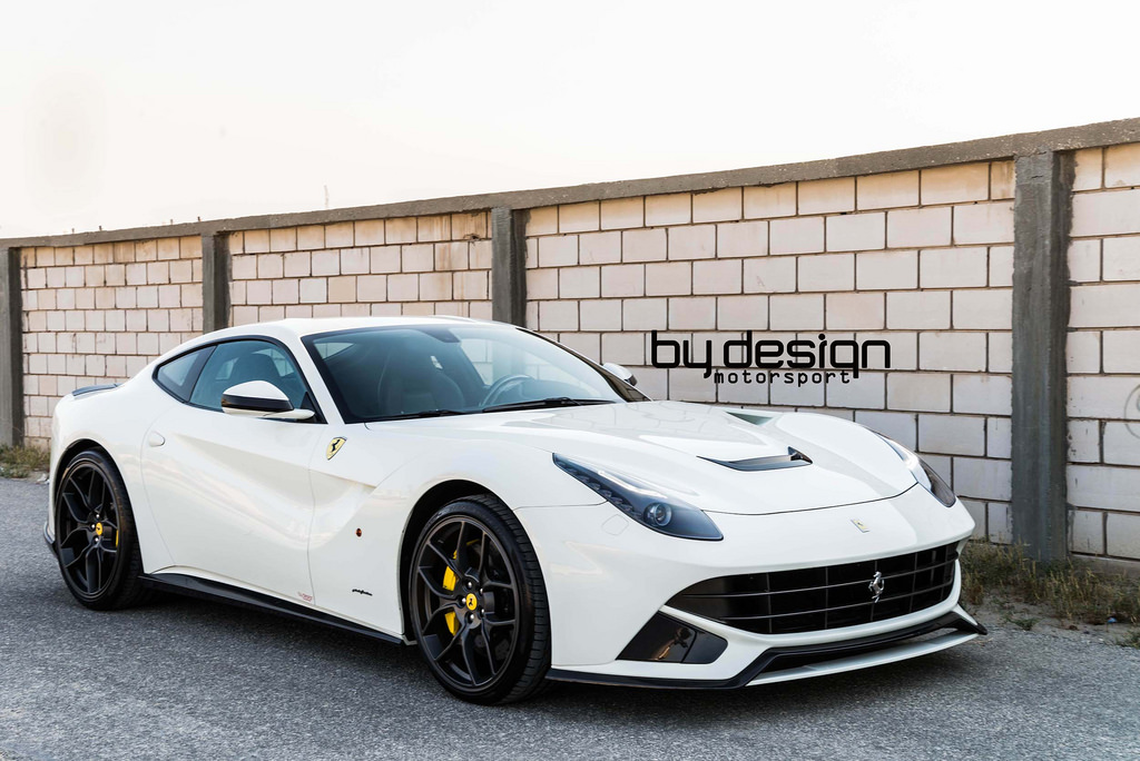 white ferrari f12 berlinetta by bydesign motorsports gtspirit. Black Bedroom Furniture Sets. Home Design Ideas
