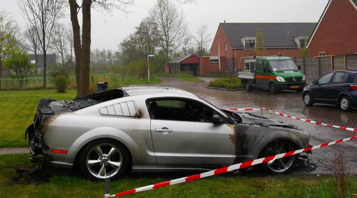 Ford Mustang Set Ablaze by Arsonists in The Netherlands