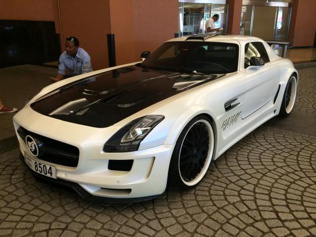 White Hamann Hawk Mercedes SLS AMG from Dubai