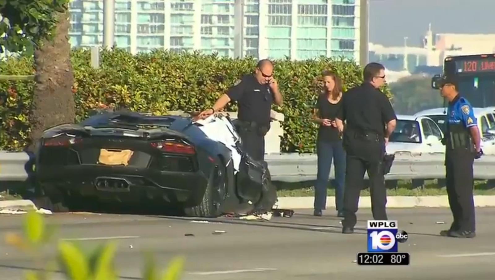 Horrific Lamborghini Aventador Accident In Miami Gtspirit