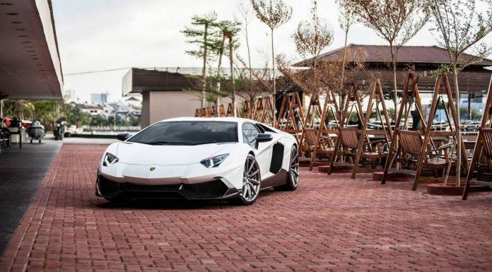 Bianca Lamborghini Aventador LP720-4 50th Anniversario