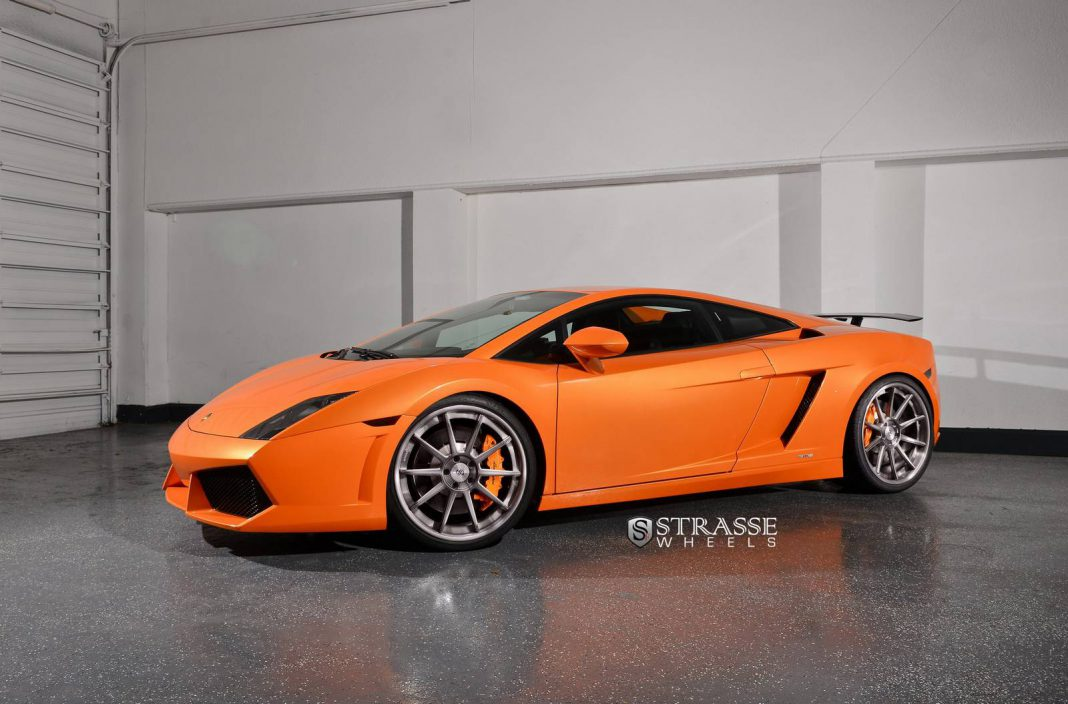 Arancio Borealis Lamborghini Gallardo Lp550 2 With Strasse Wheels Gtspirit