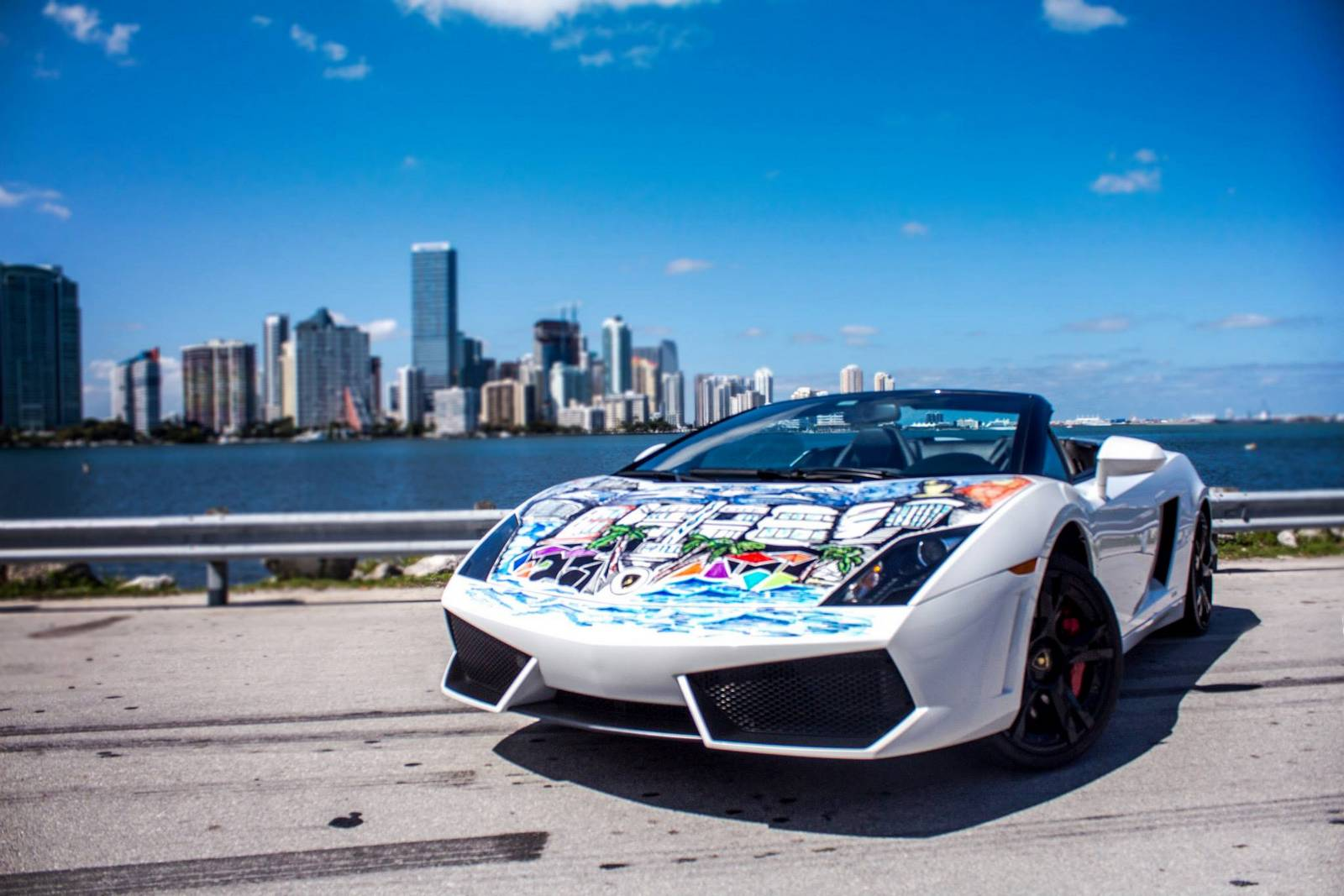 Lamborghini Gallardo Spyder Becomes South Florida Mural
