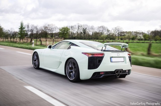 Mint Green Lexus LFA at Cars & Coffee Hamburg, Germany