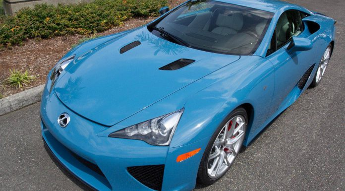 Photo of the Day: Slate Blue Lexus LFA