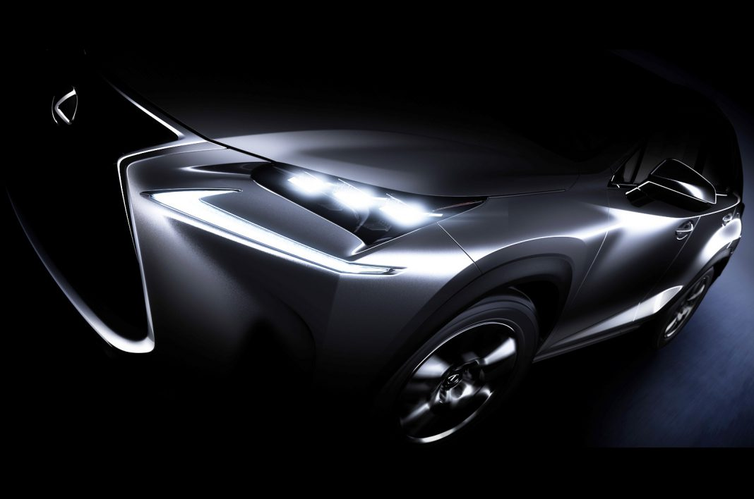 Production-Ready Lexus NX SUV Teased Before Beijing Motor Show