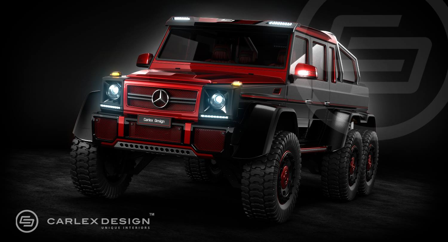 Carlex design mercedes benz g 63 amg 6x6 render gtspirit for Mercedes benz g63 6x6 for sale