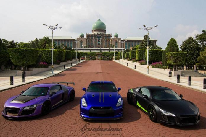 Double Audi R8 PPI Razor + Nissan GT-R Photoshoot in Malaysia