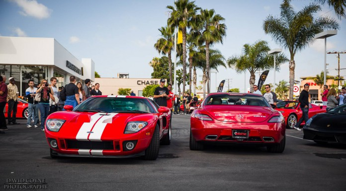 Ford GT and Mercedes-Benz SLS AMG