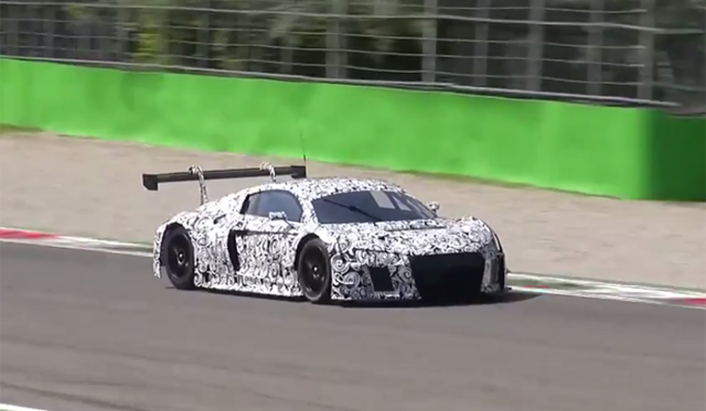 Video: 2015 Audi R8 GT3 Spied Testing