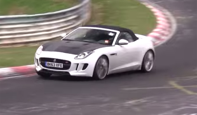 Four-Cylinder Jaguar F-Type Spied on the Nurburgring