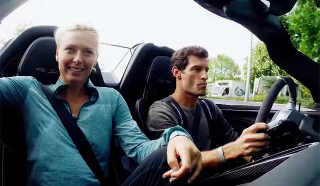 Video: Mark Webber Drives Maria Sharapova in Porsche 918 Spyder
