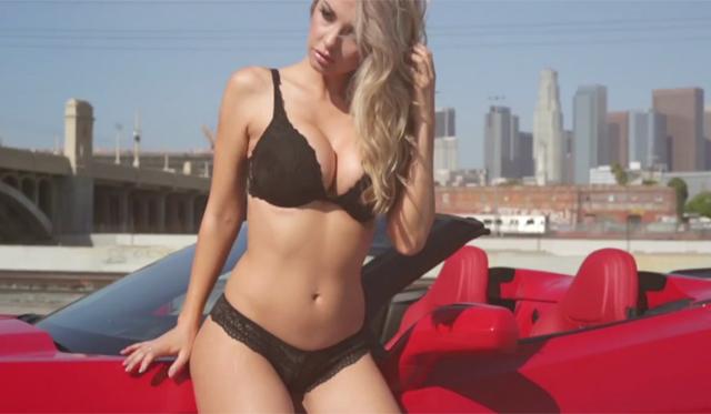 Cars & Girls: Hot Model With Forgiato Corvette Stingray