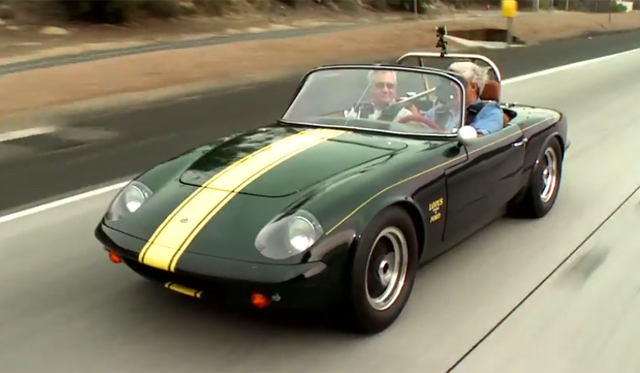 Jay Leno Shows Off His Restored Lotus Elan 26R