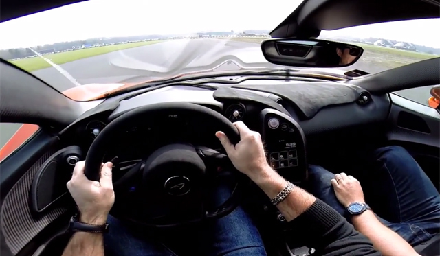 Awesome POV Drive in McLaren P1 on Track!