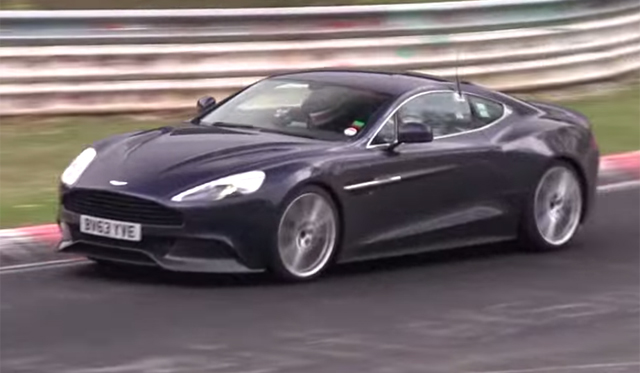 Possible Aston Martin Vanquish S Tests on the Nurburgring