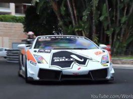 Video: Lamborghini Gallardo Super Trofeo Racer Accelerating Hard in Monaco