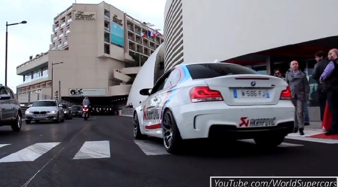 Video: Ferociously Loud BMW 1M with Akrapovic Exhaust in Monaco