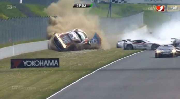 Video: Audi R8 LMS Ultra Massive Crash at ADAC GT Masters