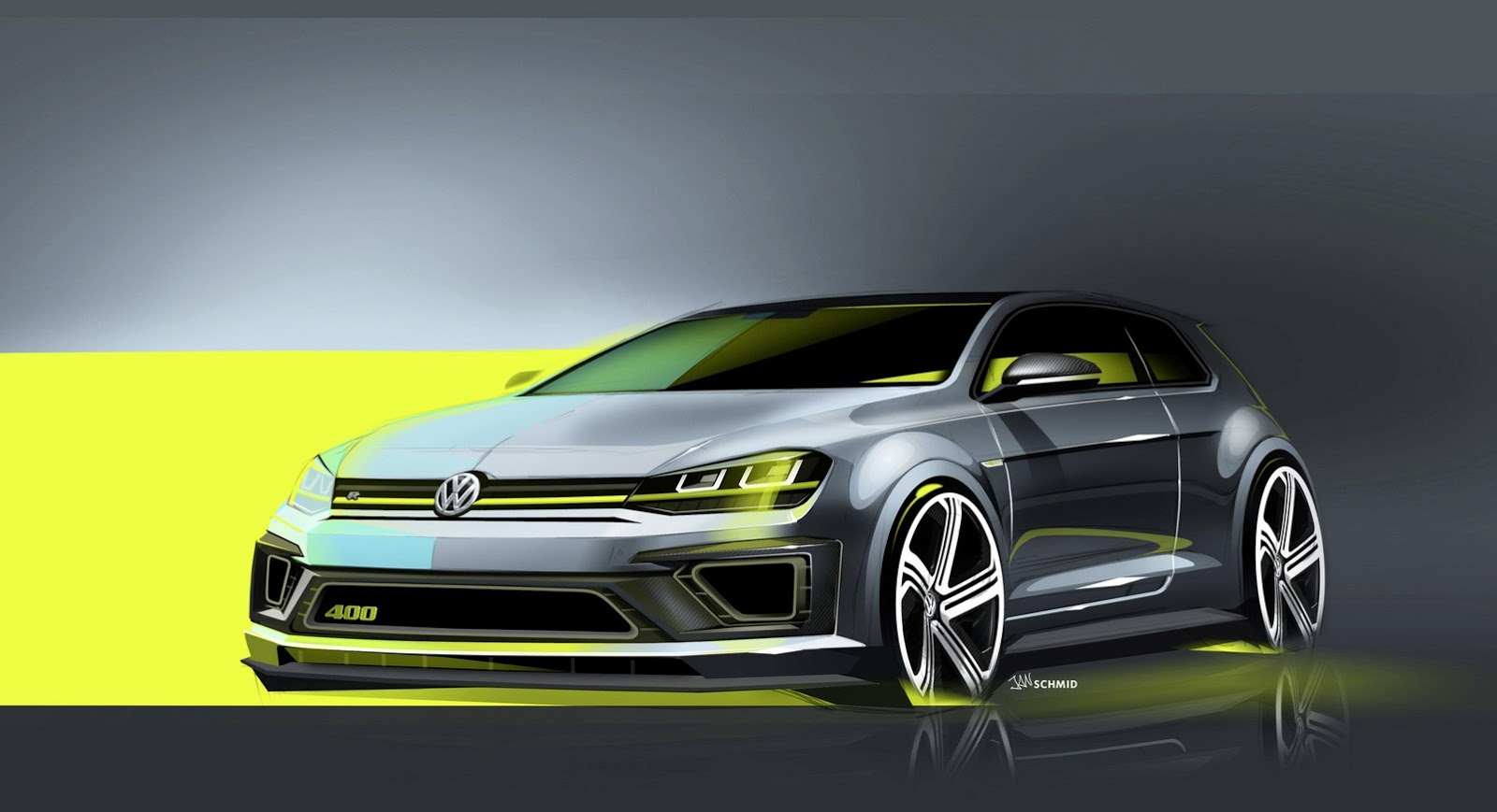 volkswagen golf r 400 concept previewed before beijing gtspirit. Black Bedroom Furniture Sets. Home Design Ideas