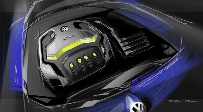 Volkswagen Golf R 400 Concept Previewed Before Beijing