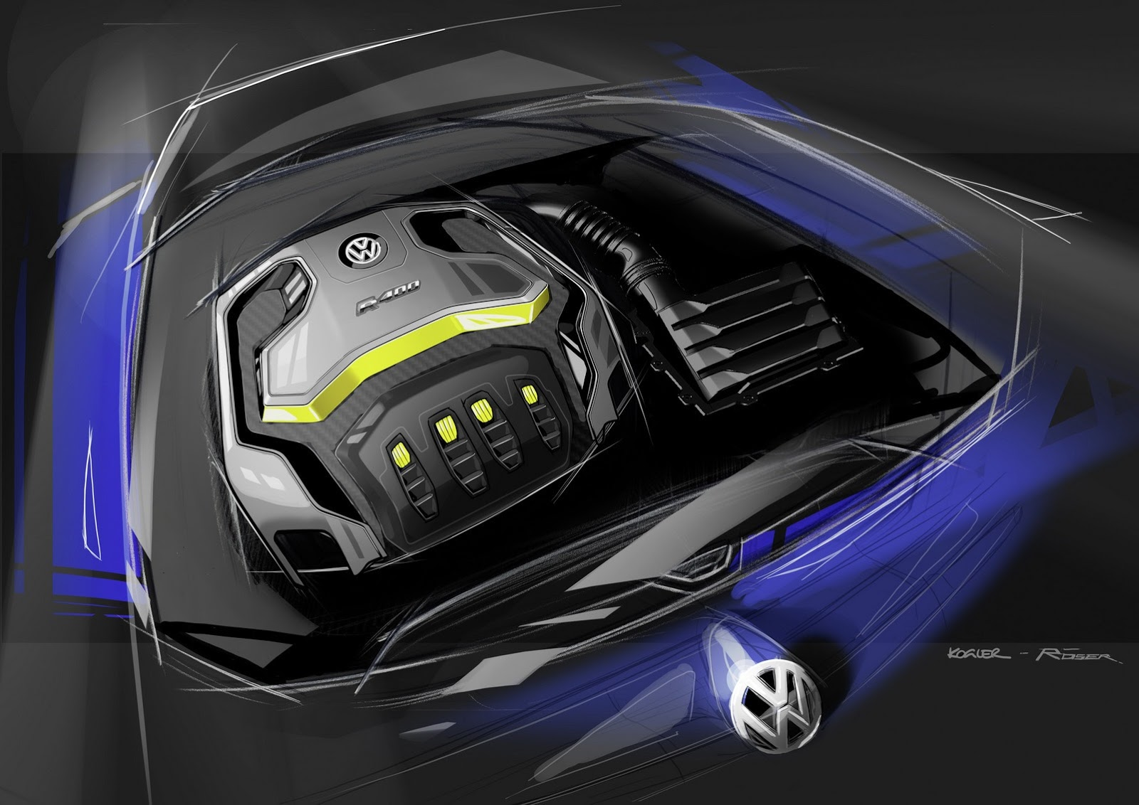 Двигатель VW Golf R400