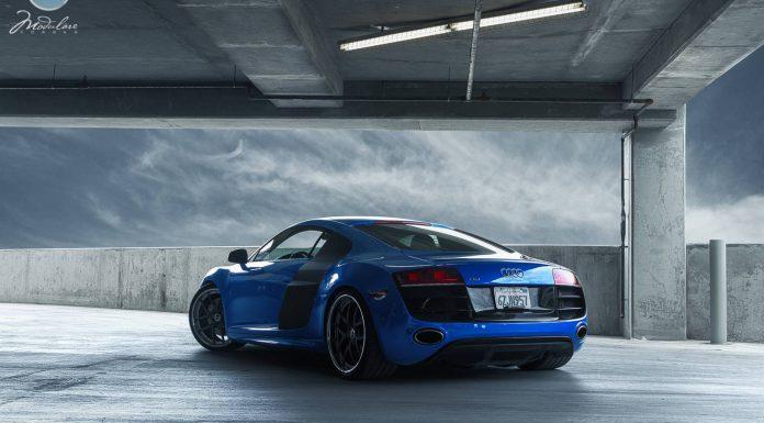 Beautiful Blue Audi R8 V10 on Modulare Wheels