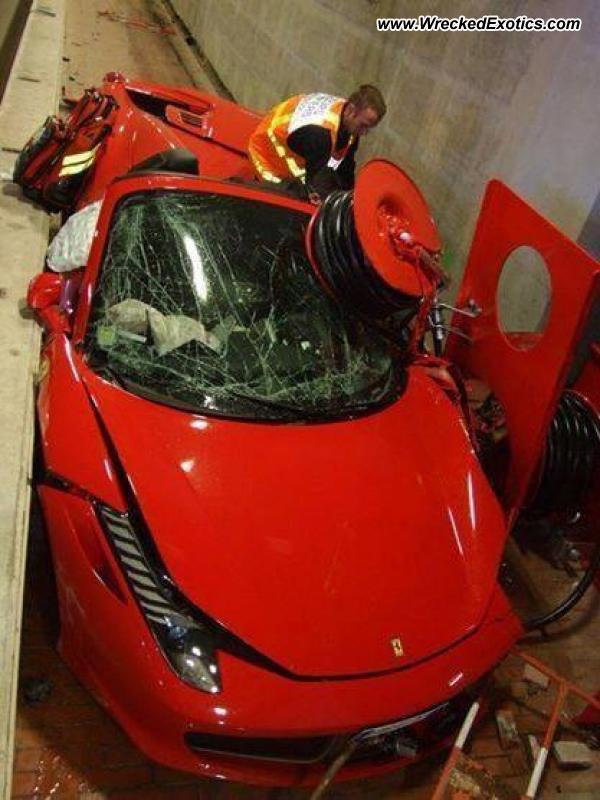 Ferrari 458 Spider Destroyed In High Speed Monaco Tunnel