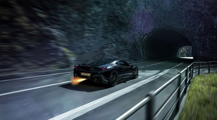Incredible Blacked-Out Ferrari 458 Italia by ADV.1 Wheels